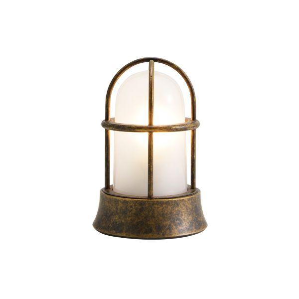 ゴーリキアイランド 750030 真鍮製マリンランプ くもりガラス&LEDランプ BH1000MINI FR LE 古色 ポーチライト アンティーク レトロ