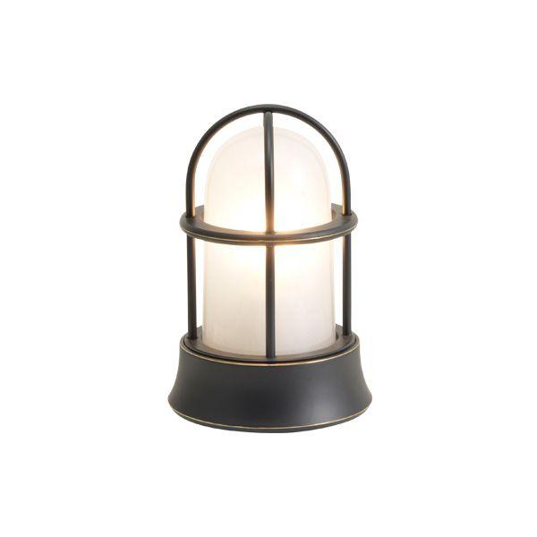 ゴーリキアイランド 750031 真鍮製マリンランプ くもりガラス&LEDランプ BH1000MINI FR LE 黒色 ポーチライト アンティーク レトロ