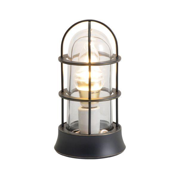 ゴーリキアイランド 750045 真鍮製マリンランプ クリアガラス&LEDランプ BH1000SLIM CL LE 黒色 ポーチライト アンティーク レトロ