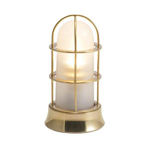 ゴーリキアイランド 750051 真鍮製マリンランプ くもりガラス&LEDランプ BH1000SLIM FR LE 金色 ポーチライト アンティーク レトロ