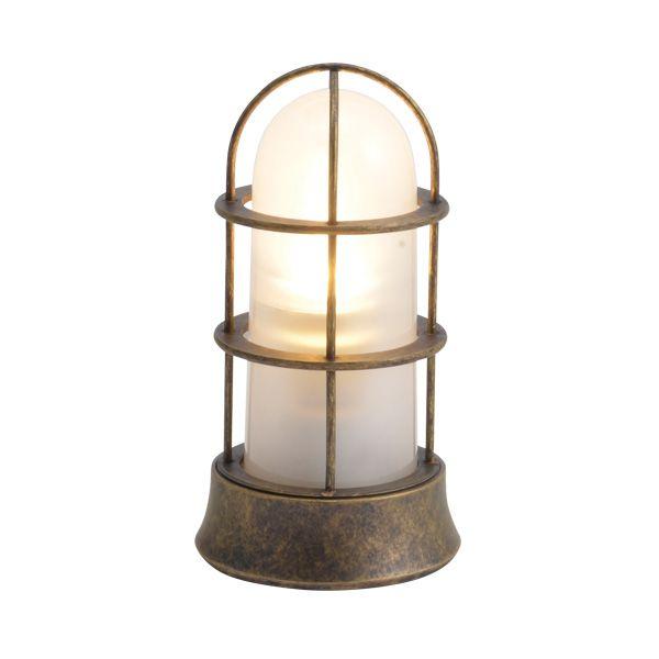 ゴーリキアイランド 750053 真鍮製マリンランプ くもりガラス&LEDランプ BH1000SLIM FR LE 古色 ポーチライト アンティーク レトロ