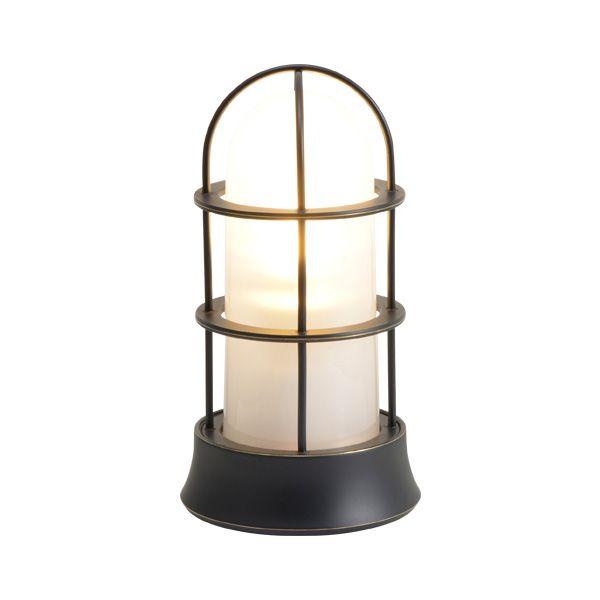ゴーリキアイランド 750054 真鍮製マリンランプ くもりガラス&LEDランプ BH1000SLIM FR LE 黒色 ポーチライト アンティーク レトロ