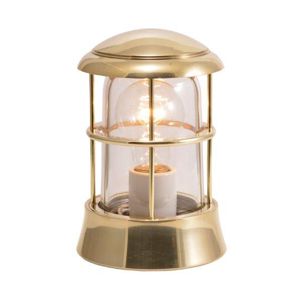 ゴーリキアイランド 750068 真鍮製マリンランプ クリアガラス&LED普通球 BH1010 CL 金色 ポーチライト アンティーク レトロ