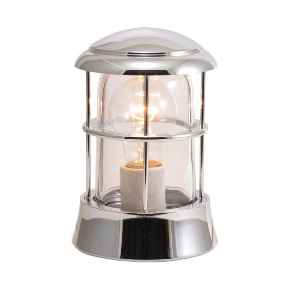 ゴーリキアイランド 750069 真鍮製マリンランプ クリアガラス&LED普通球 BH1010 CL 銀色 ポーチライト アンティーク レトロ