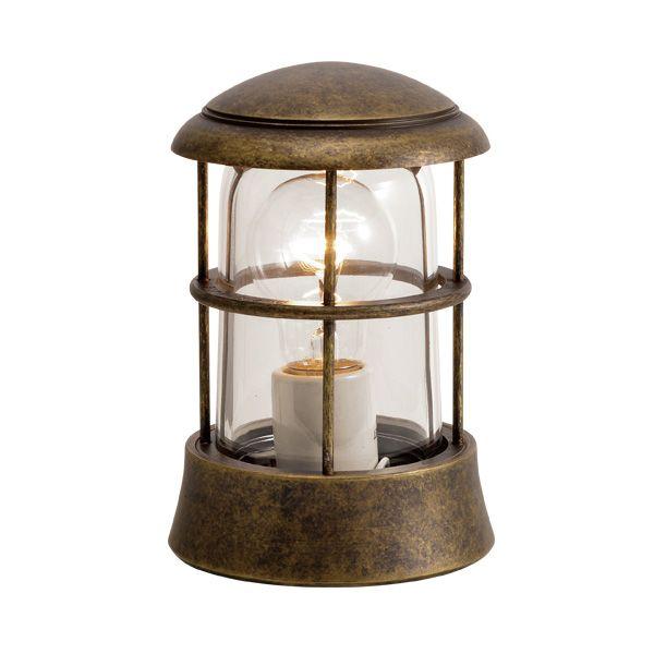 ゴーリキアイランド 750070 真鍮製マリンランプ クリアガラス&LED普通球 BH1010 CL 古色 ポーチライト アンティーク レトロ