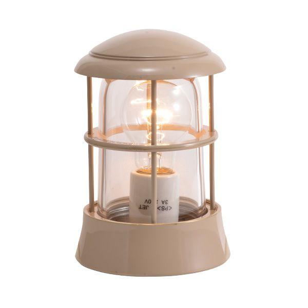 ゴーリキアイランド 750074 真鍮製マリンランプ クリアガラス&LED普通球 BH1010 CL アースグレイ ポーチライト アンティーク レトロ