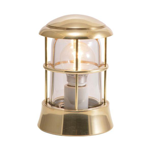 ゴーリキアイランド 750077 真鍮製マリンランプ クリアガラス&LEDランプ BH1010 CL LE 金色 ポーチライト アンティーク レトロ
