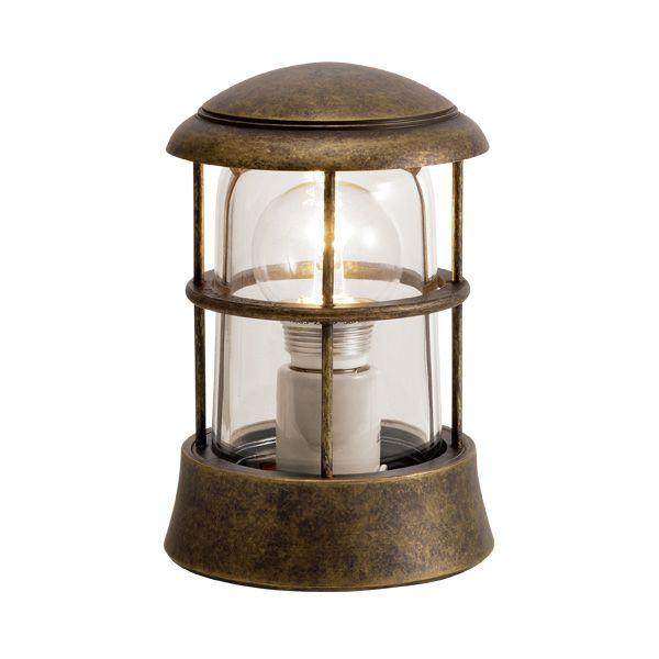 ゴーリキアイランド 750079 真鍮製マリンランプ クリアガラス&LEDランプ BH1010 CL LE 古色 ポーチライト アンティーク レトロ