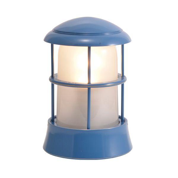 ゴーリキアイランド 750091 真鍮製マリンランプ くもりガラス&LEDランプ BH1010 FR LE パシフィックブルー ポーチライト アンティーク レトロ