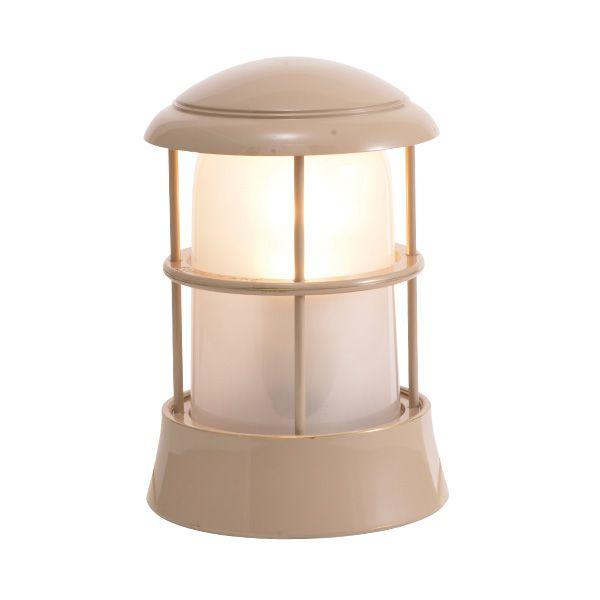 ゴーリキアイランド 750092 真鍮製マリンランプ くもりガラス&LEDランプ BH1010 FR LE アースグレイ ポーチライト アンティーク レトロ