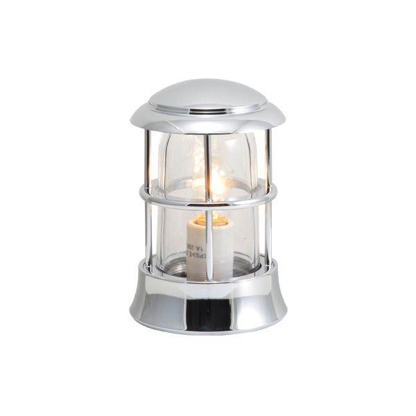 ゴーリキアイランド 750096 真鍮製マリンランプ クリアガラス&LED普通球 BH1010MINI CL 銀色 ポーチライト アンティーク レトロ