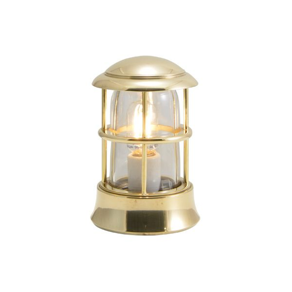 ゴーリキアイランド 750104 真鍮製マリンランプ クリアガラス&LEDランプ BH1010MINI CL LE 金色 ポーチライト アンティーク レトロ