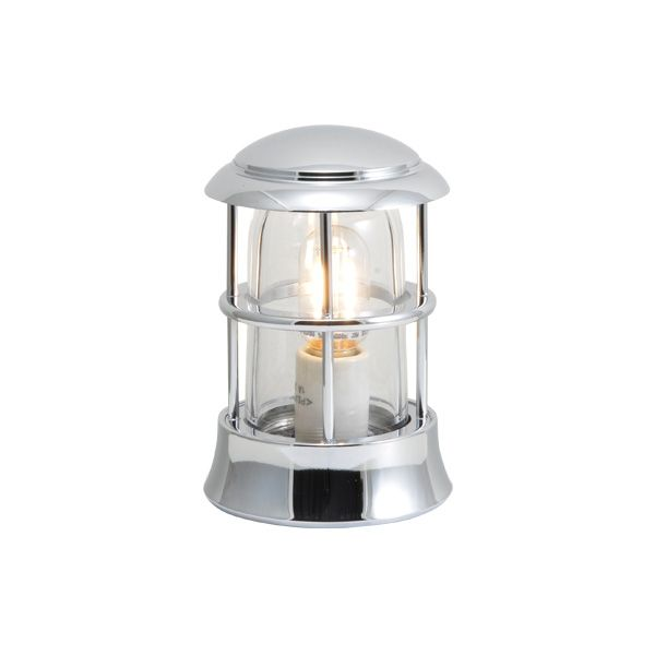 ゴーリキアイランド 750105 真鍮製マリンランプ クリアガラス&LEDランプ BH1010MINI CL LE 銀色 ポーチライト アンティーク レトロ
