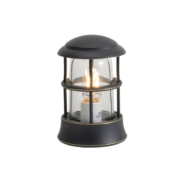 ゴーリキアイランド 750107 真鍮製マリンランプ クリアガラス&LEDランプ BH1010MINI CL LE 黒色 ポーチライト アンティーク レトロ
