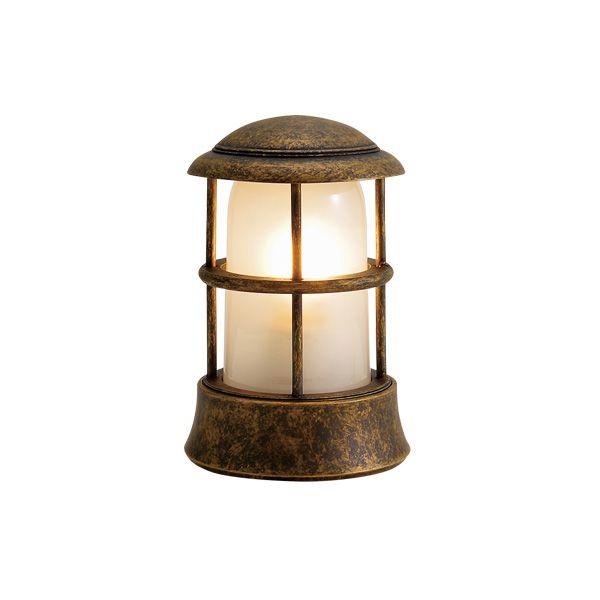 ゴーリキアイランド 750115 真鍮製マリンランプ くもりガラス&LEDランプ BH1010MINI FR LE 古色 ポーチライト アンティーク レトロ