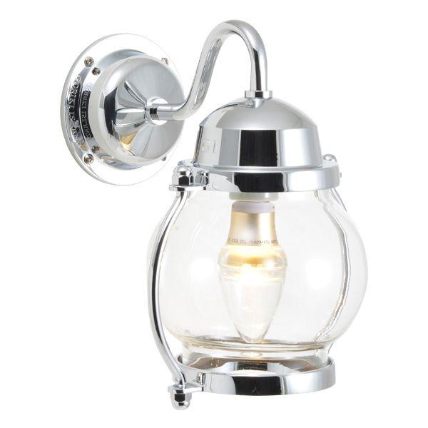 ゴーリキアイランド 750209 真鍮製ブラケットランプ クリアガラス&LED BR1700 CL LE 銀色 ポーチライト アンティーク レトロ