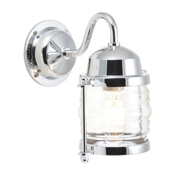 ゴーリキアイランド 750215 真鍮製ブラケットランプ クリアガラス&普通球 BR1710 CL 銀色 ポーチライト アンティーク レトロ