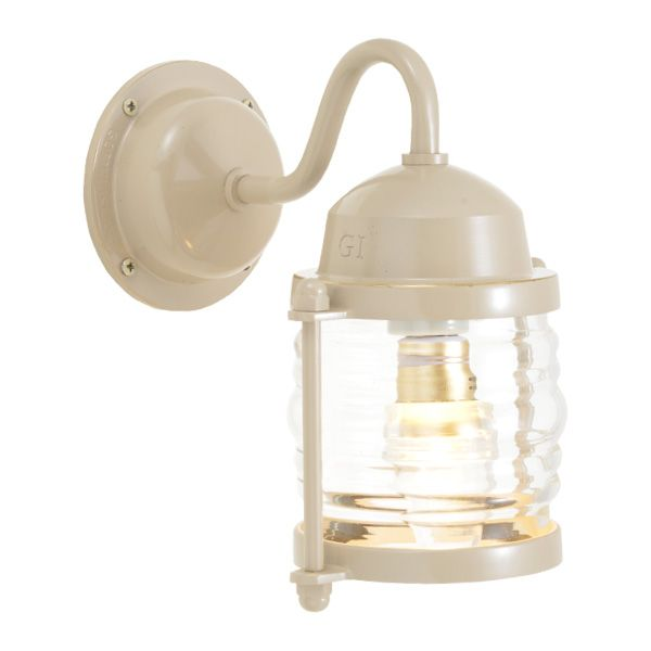ゴーリキアイランド 750225 真鍮製ブラケットランプ クリアガラス&LEDランプ BR1710 CL LE アースグレイ ポーチライト アンティーク レトロ