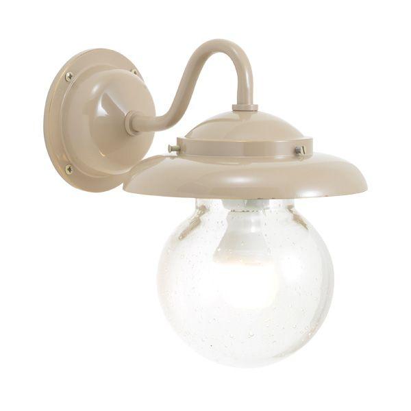 ゴーリキアイランド 750269 真鍮製ブラケットランプ 泡入りガラス&LEDランプ BR1771 BU LE 軒下用 防滴 アースグレイ ポーチライト アンティーク