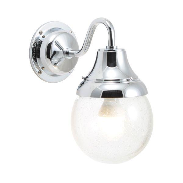 ゴーリキアイランド 750280 真鍮製ブラケットランプ 泡入りガラス&LEDランプ BR1784 BU LE 軒下用 防滴 銀色 ポーチライト アンティーク レトロ
