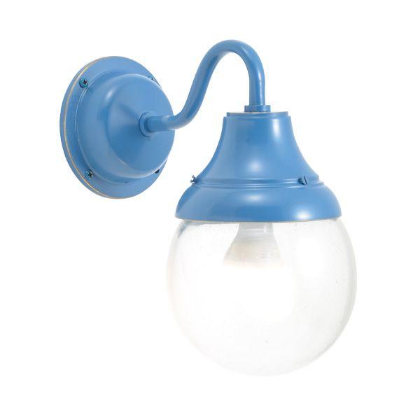 ゴーリキアイランド 750284 真鍮製ブラケットランプ 泡入りガラス&LEDランプ BR1784 BU LE 軒下用 防滴 パシフィックブルー ポーチライト