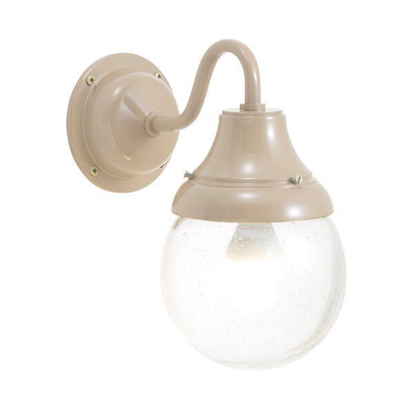 ゴーリキアイランド 750285 真鍮製ブラケットランプ 泡入りガラス&LEDランプ BR1784 BU LE 軒下用 防滴 アースグレイ ポーチライト アンティーク