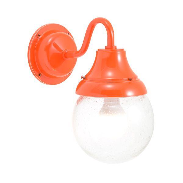 ゴーリキアイランド 750287 真鍮製ブラケットランプ 泡入りガラス&LEDランプ BR1784 BU LE 軒下用 防滴 オレンジ ポーチライト アンティーク