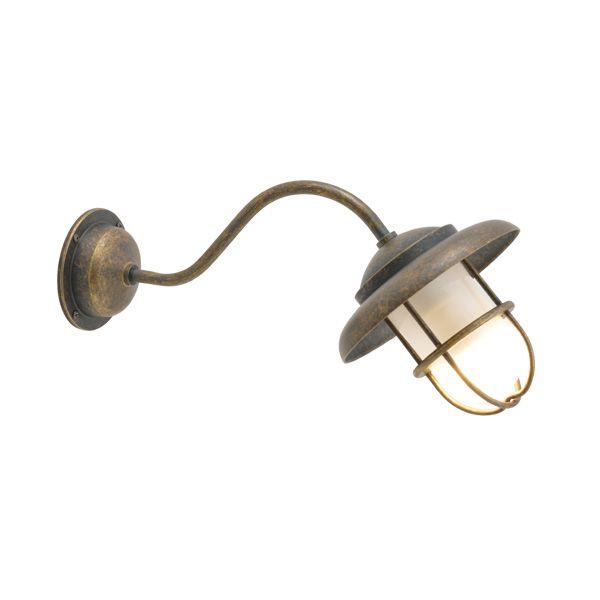 ゴーリキアイランド 750307 真鍮製ブラケットランプ くもりガラス&LEDランプ BT1760 FR LE ティルトタイプ 古色 ポーチライト アンティーク レトロ
