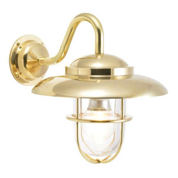 ゴーリキアイランド 750344 真鍮製ブラケットランプ クリアガラス&LEDランプ BR5060 CL LE 金色 ポーチライト アンティーク レトロ