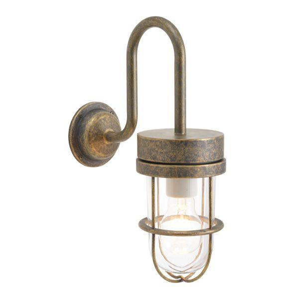 ゴーリキアイランド 750356 真鍮製ブラケットランプ クリアガラス&普通球 BR6000 CL 古色 ポーチライト アンティーク レトロ