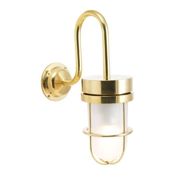 ゴーリキアイランド 750372 真鍮製ブラケットランプ くもりガラス&LEDランプ BR6000 FR LE 金色 ポーチライト アンティーク レトロ