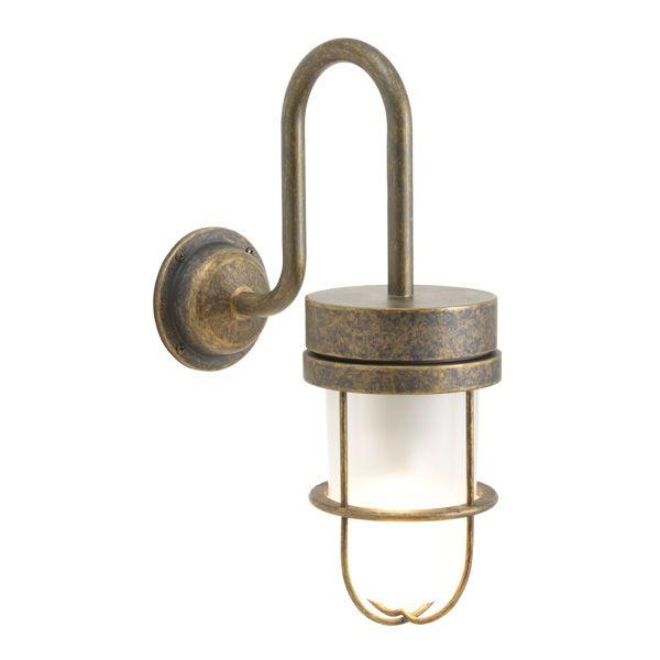 ゴーリキアイランド 750374 真鍮製ブラケットランプ くもりガラス&LEDランプ BR6000 FR LE 古色 ポーチライト アンティーク レトロ