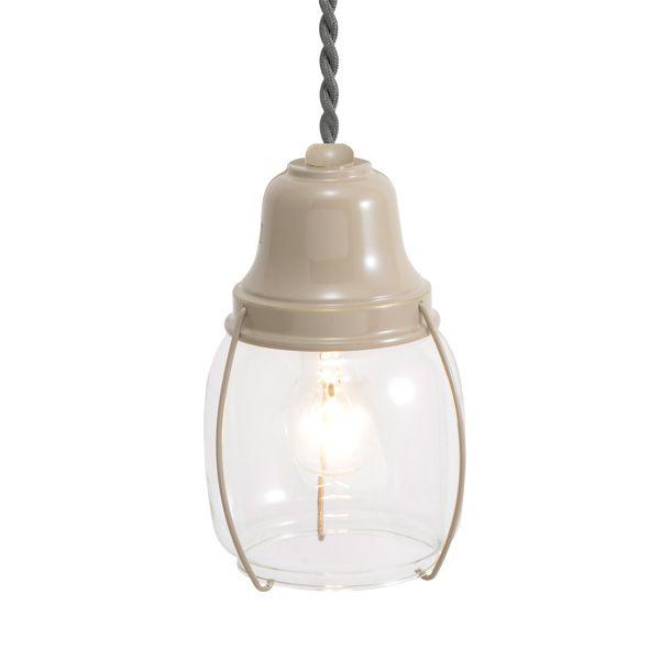 ゴーリキアイランド 750419 真鍮製ペンダントライト クリアガラス&普通球 PW1720 CL アースグレイ 真鍮 インテリアライト 天井照明 北欧
