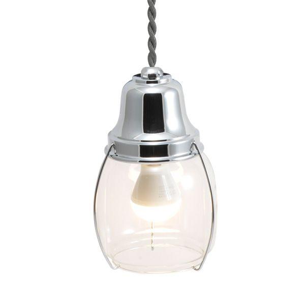 ゴーリキアイランド 750423 真鍮製ペンダントライト クリアガラス&LEDランプ PW1720 CL LE 銀色 真鍮 インテリアライト 天井照明 北欧
