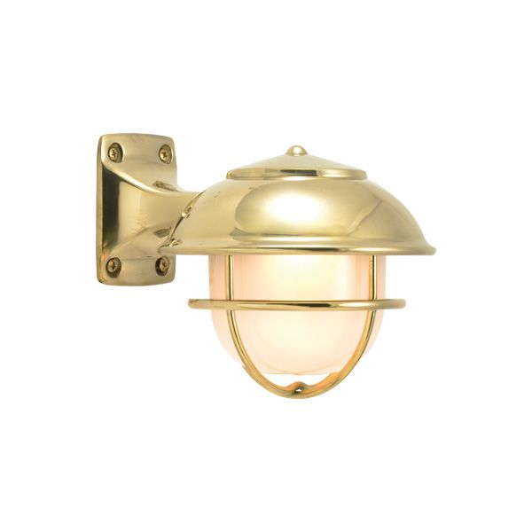 ゴーリキアイランド 750515 真鍮製ブラケットランプ くもりガラス&LEDランプ BR5000 FR LE SHORTタイプ 金色 ポーチライト アンティーク