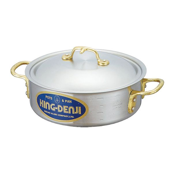 4571335092443 中尾アルミ製作所 キングデンジ 24cm 大放出セール SEAL限定商品 3.5L 外輪鍋