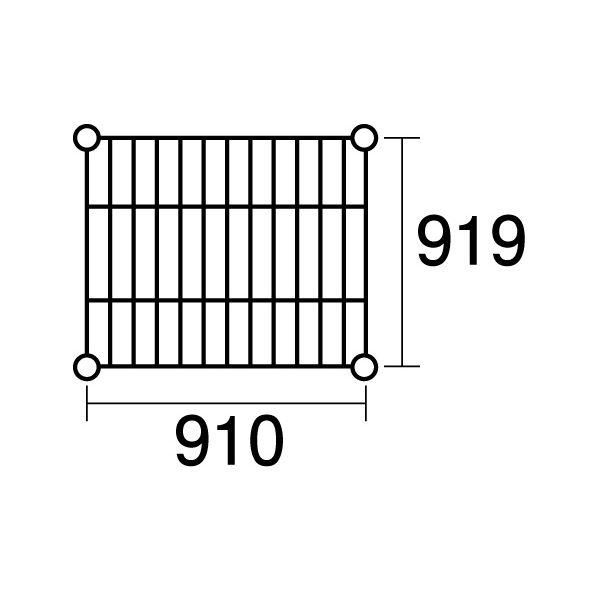 【ポイント2倍】137905 エレクター ステンレスエレクターSLLS1220:PS1590:5段