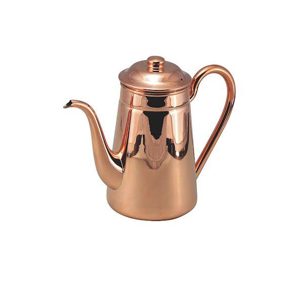 159100 TMGサプライ 銅 無地コーヒーポット#13 1500cc 159100 TMGサプライ 銅 無地コーヒーポット#13 1500cc