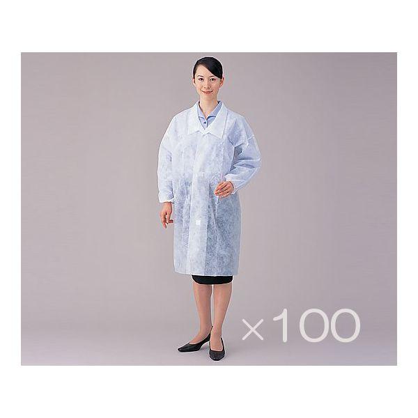 アズワン 8-4055-12 特価 ディスポ白衣 L 100枚入 公式 1箱 8405512