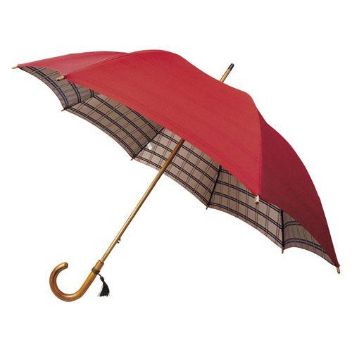 K11109325 甲州織 裏格子樫棒手開き長傘 個数:1個 直送 最新アイテム 他メーカー同梱不可 代引不可 おトク