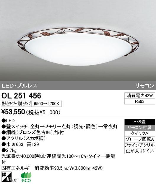オーデリック(ODELIC) [OL251456] LEDシーリングライト