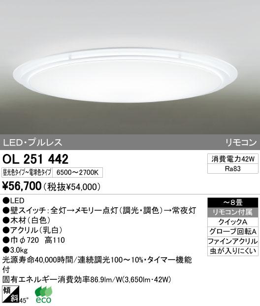 オーデリック(ODELIC) [OL251442] LEDシーリングライト