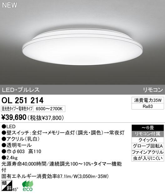 オーデリック(ODELIC) [OL251214] LEDシーリングライト