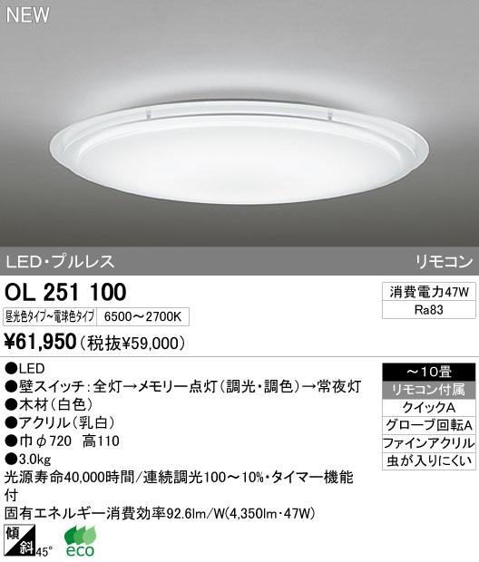 オーデリック(ODELIC) [OL251100] LEDシーリングライト