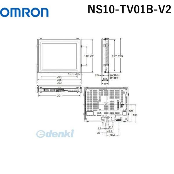 憧れ NSシリーズ プログラマブルターミナル オムロン NS10-TV01B-V2 OMRON NS10TV01BV2【キャンセル】:測定器・工具のイーデンキ-その他