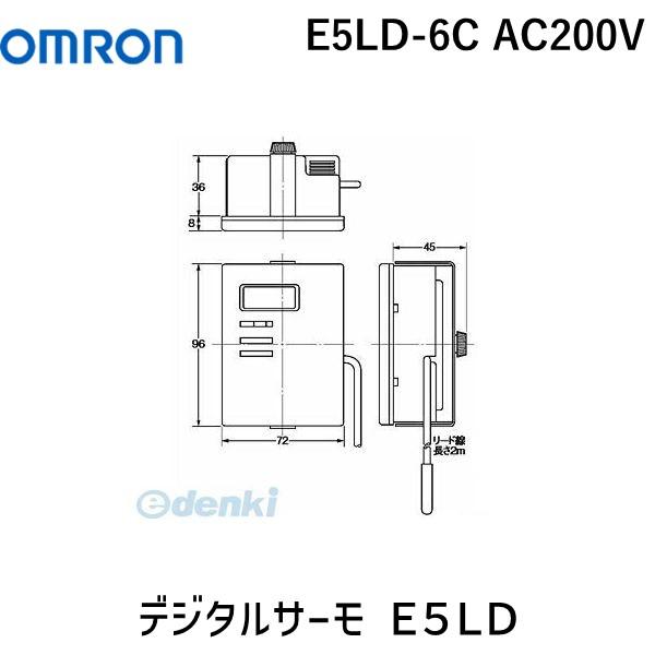 オムロン OMRON E5LD-6C AC200V デジタルサーモ E5LD E5LD6CAC200V【キャンセル不可】
