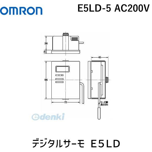 オムロン OMRON E5LD-5 AC200V デジタルサーモ E5LD E5LD5AC200V【キャンセル不可】
