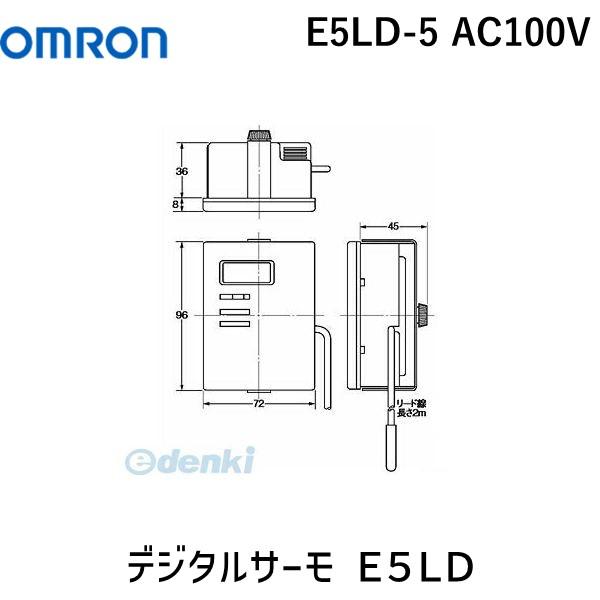 オムロン OMRON E5LD-5 AC100V デジタルサーモ E5LD E5LD5AC100V【キャンセル不可】