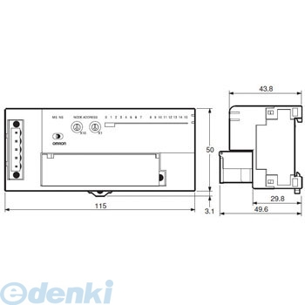 オムロン OMRON DRT2-OD08 DeviceNet リモートI/Oターミナル トランジスタタイプ DRT2OD08【キャンセル不可】