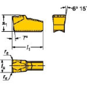 SV N151.2-250-7E 235 溝入れ・突切り用旋削チップCOA 10個入 N1 N151.22507E 235 【キャンセル不可】